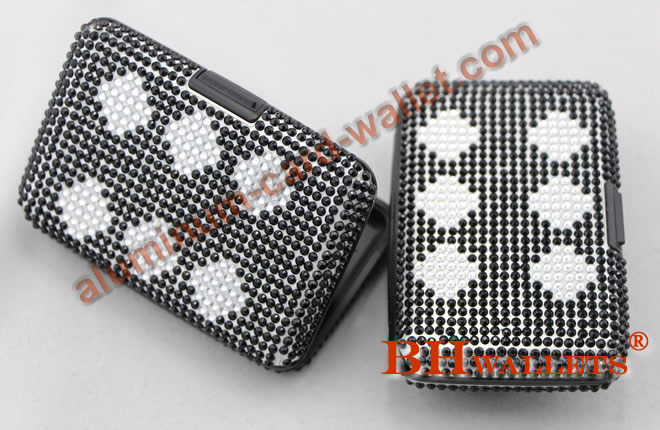 Aluminum Card Wallet With Crystal Black