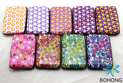Pattern Design Printing Aluminum Wallets