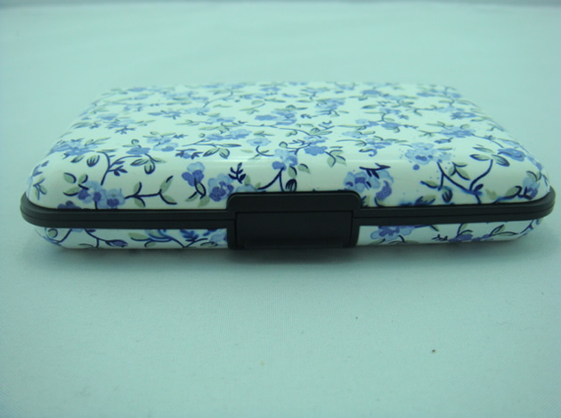 Blue And White Pattern Card Wallets