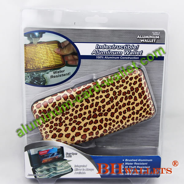 Security Credit Card Wallet with leopard design