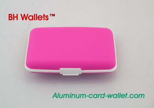 Hard Silicone Credit Card Case Pink