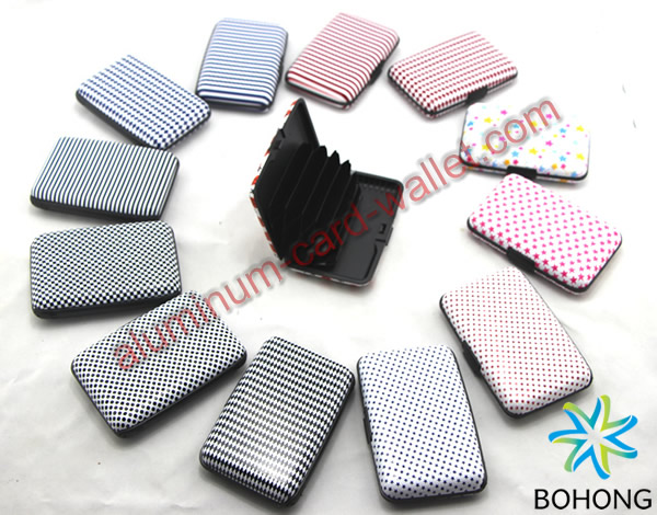 Printing Design Block RFID Aluminum Card Wallet
