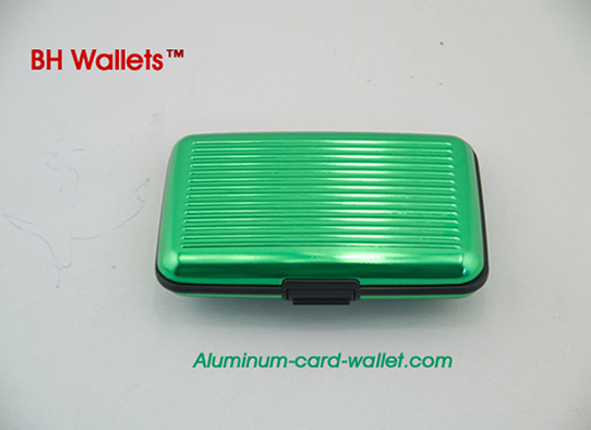 Green Aluminum wallet 8 colors available