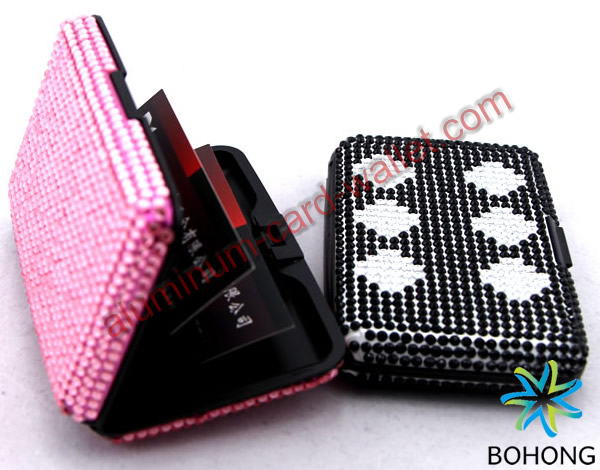 Aluminum Crystal Wallets Promotion