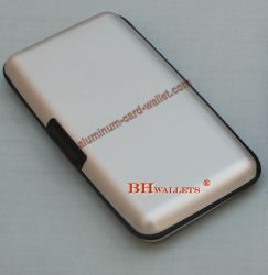 Big Size Aluminum Wallet With Mirror Inside Silver