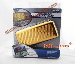 Big Size Aluminum Wallet Holder Golden