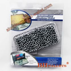 Aluminum Card Wallet With Bliset Packing Snake Pattern