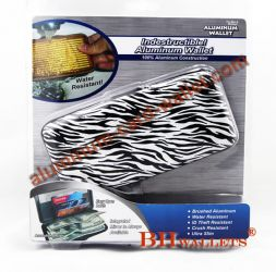 Big Size Aluminium Credit Card Wallet Zebra Pattern