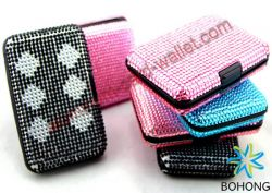 Aluminum Crystal Case Wallet