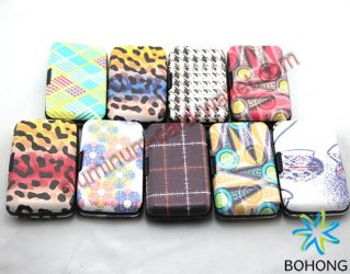 Unisex Printing Aluminum Leather Card Wallets