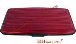RFID Aluminum Large Smooth Wallet Red