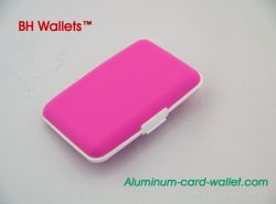 Pink Silicone Wallet For Men & Women
