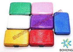Crystal Card Holder Pocket Case Box