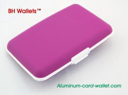 Purple Theft Proof Silicone Wallet Wholesale