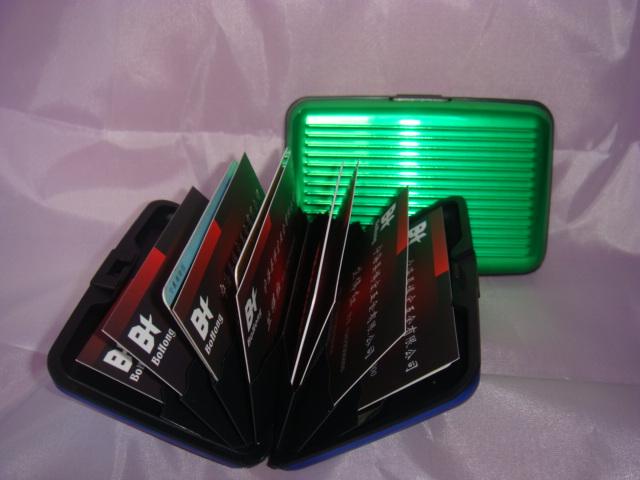 Green Aluminum Credit Card Wallet
