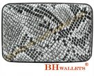 Aluminum Wallet Snakeskin Pattern With 7 Dividers